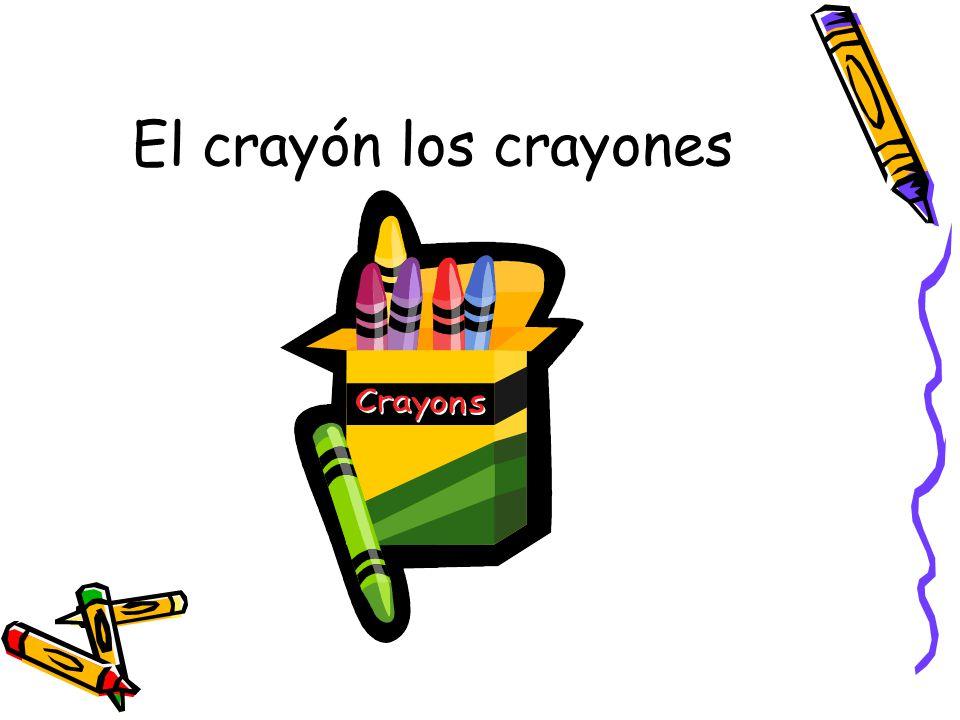 El crayón los crayones