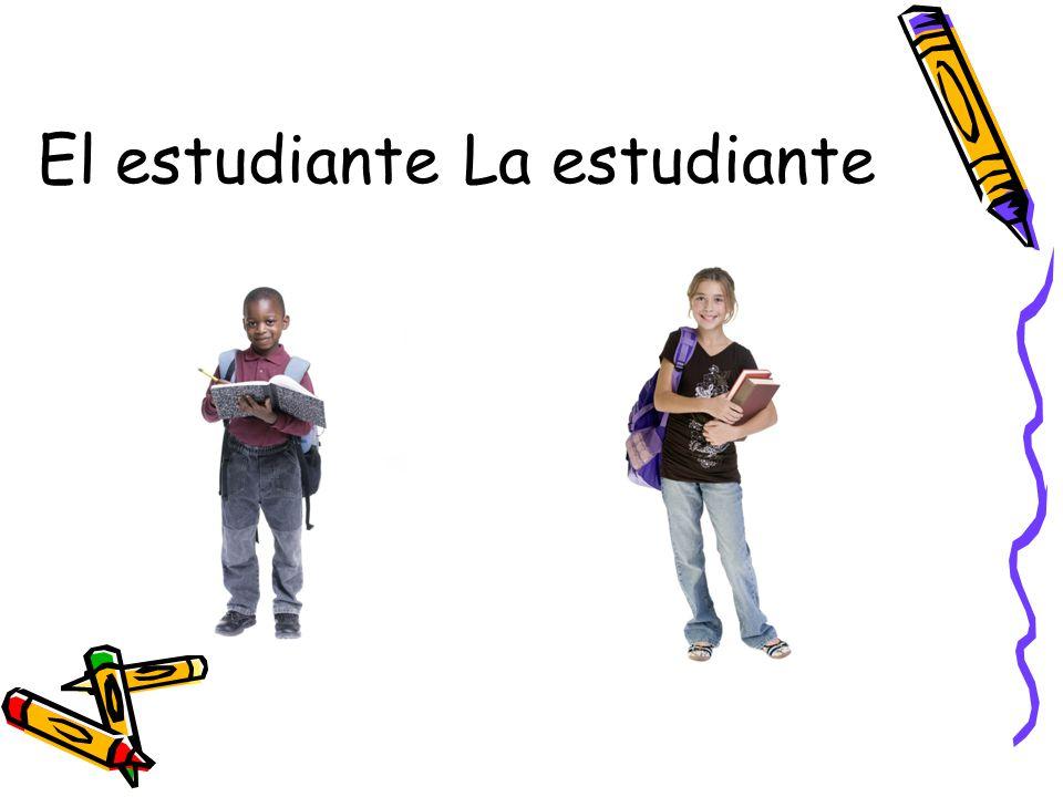 El estudianteLa estudiante