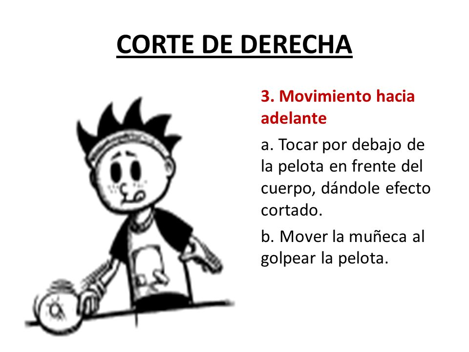 CORTE DE DERECHA 3.Movimiento hacia adelante a.