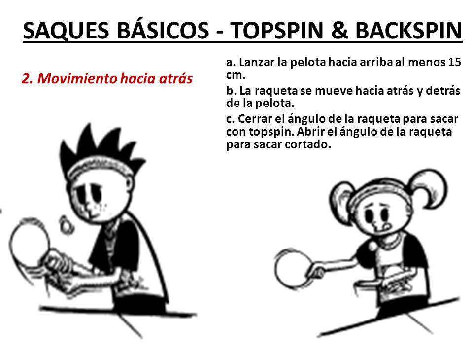 SAQUES BÁSICOS - TOPSPIN & BACKSPIN 3.Movimiento hacia adelante a.