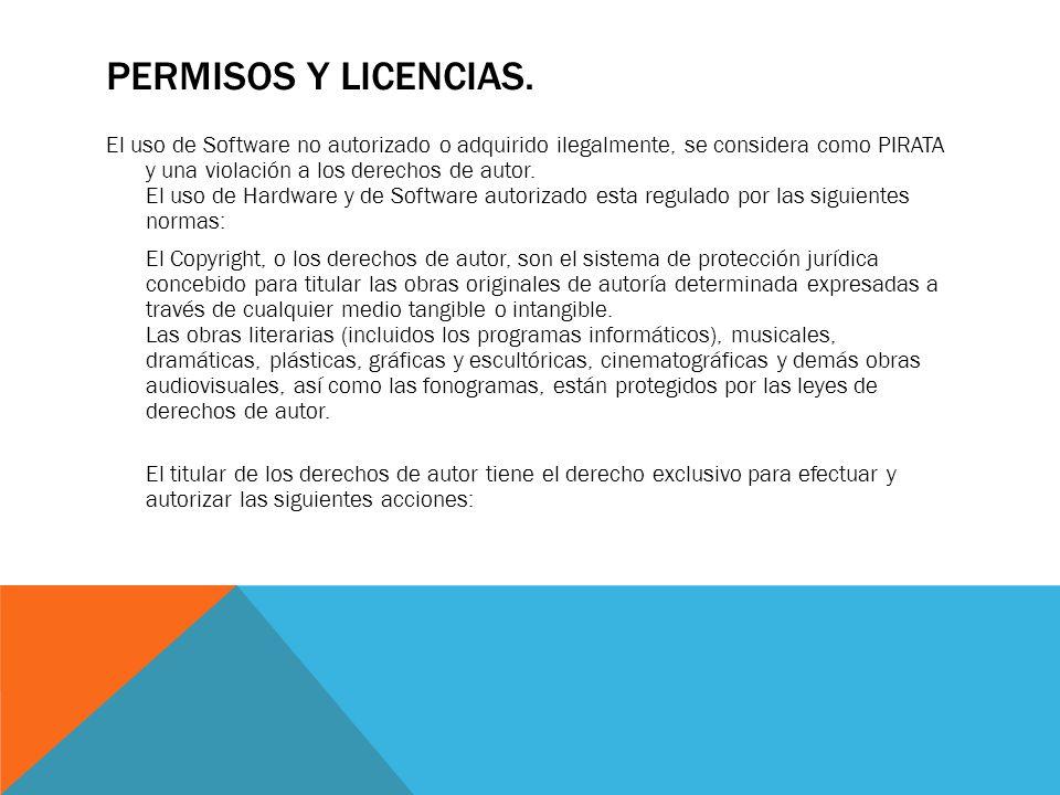PERMISOS Y LICENCIAS.