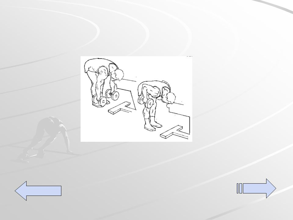 Donkey pull's Utilizando dos dumber una en cada mano colóquese frente a un banco de pesas inclínese hacia delante hasta que pueda descansar la frente en el banco, traiga ambos brazos a la altura de su costado contrayendo la espalda realice tres series de 15 repeticiones.