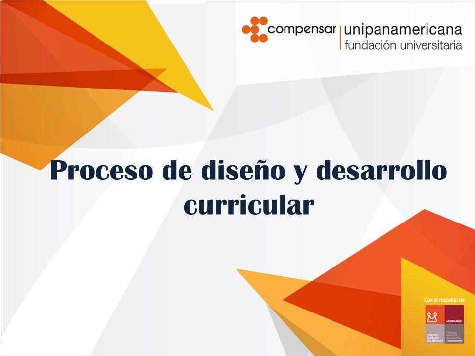 Proceso de diseño y desarrollo curricular
