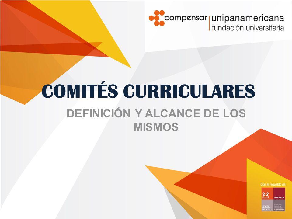 COMITÉS CURRICULARES DEFINICIÓN Y ALCANCE DE LOS MISMOS