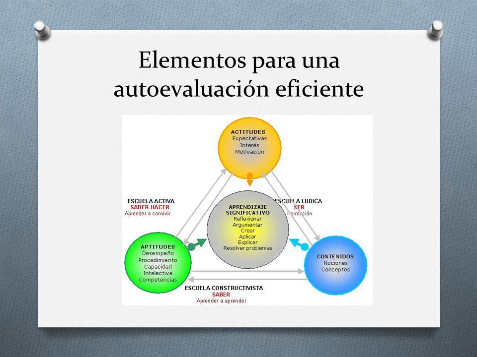 Elementos para una autoevaluación eficiente