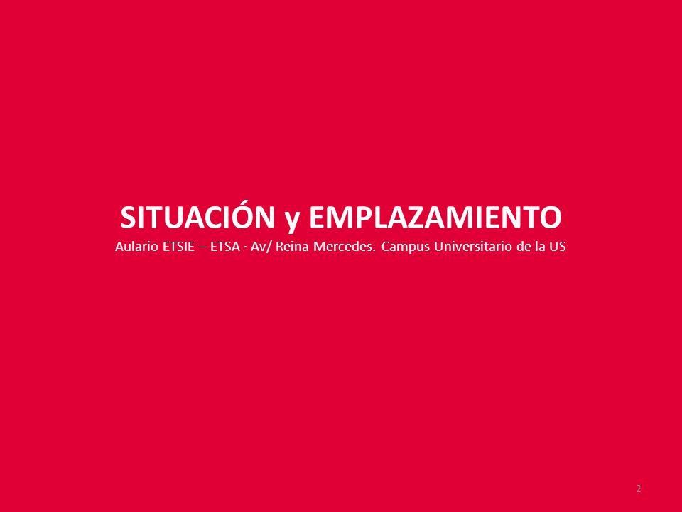 SITUACIÓN y EMPLAZAMIENTO Aulario ETSIE – ETSA · Av/ Reina Mercedes.