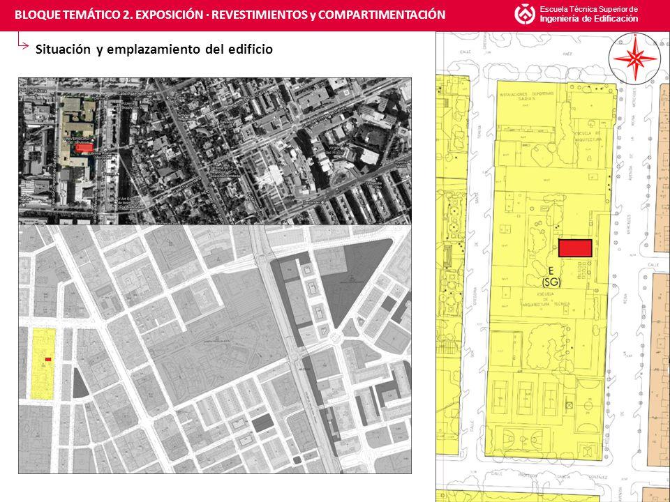 Índice de secciones constructivas Escuela Técnica Superior de Ingeniería de Edificación 14 A-A' : REVESTIMIENTO DE AULAS BLOQUE TEMÁTICO 2.