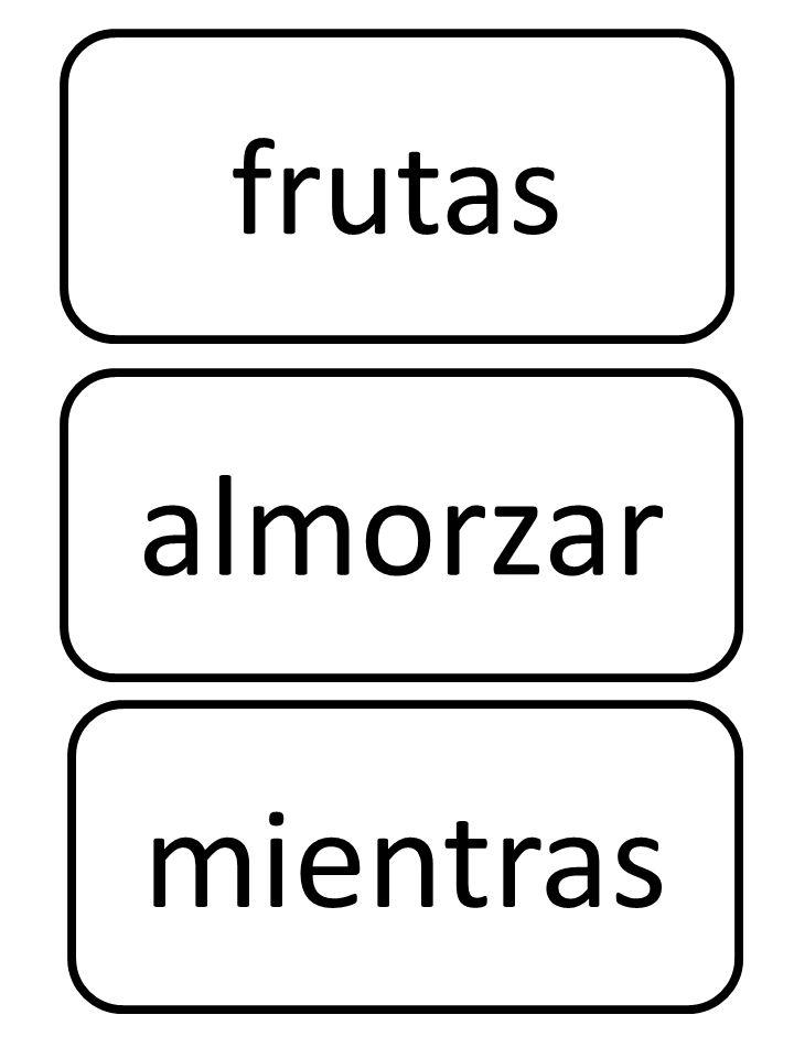 frutas mientras almorzar