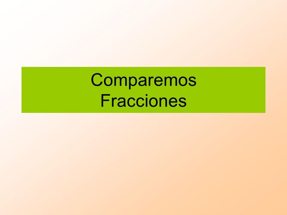 Comparando fracciones Sigue las siguientes instrucciones: Toma un papel lustre de cualquier color.