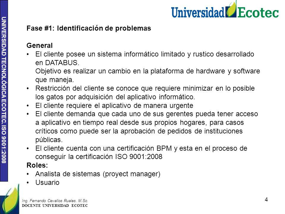 UNIVERSIDAD TECNOLÓGICA ECOTEC.ISO 9001:2008 4 Ing.