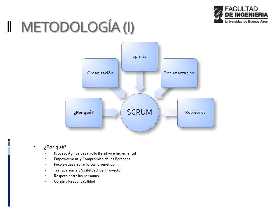 METODOLOGÍA (I)  ¿Por qué.