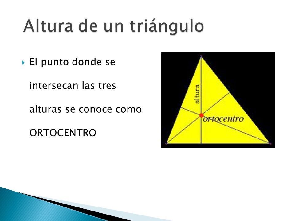  Es un segmento de recta que va desde un vértice del triangulo hasta el punto medio del lado opuesto.