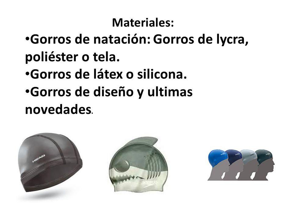 Gafas de natación: De goma espuma. De neopreno. De silicona. De poli carbonato.