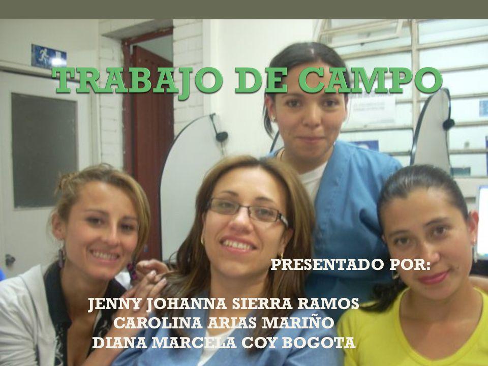 PRESENTADO POR: JENNY JOHANNA SIERRA RAMOS CAROLINA ARIAS MARIÑO DIANA MARCELA COY BOGOTA