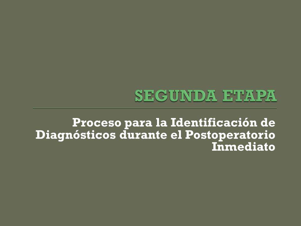 Proceso para la Identificación de Diagnósticos durante el Postoperatorio Inmediato