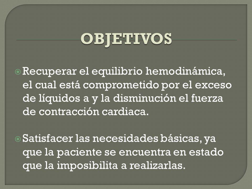  Explicarle a la paciente los riesgos y complicaciones.