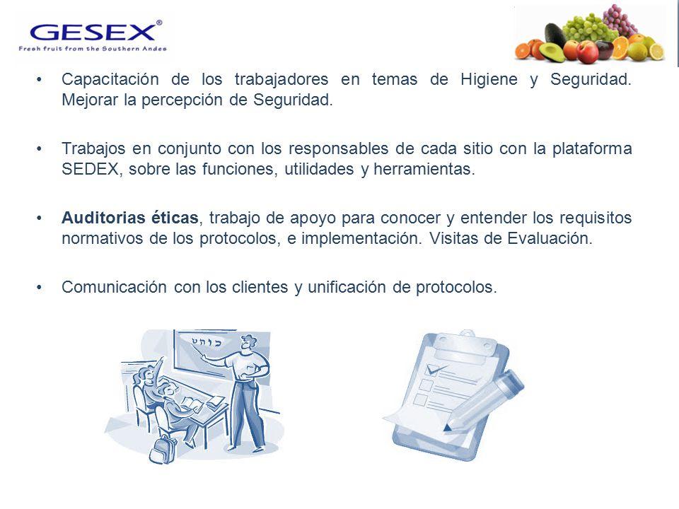 Capacitación de los trabajadores en temas de Higiene y Seguridad.