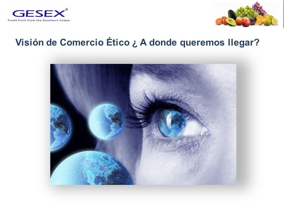 COMERCIO ÉTICO Ser un Ciudadano Corporativo Responsable.