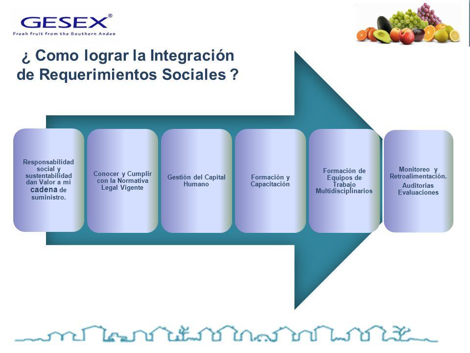 Responsabilidad social y sustentabilidad dan Valor a mi cadena de suministro.