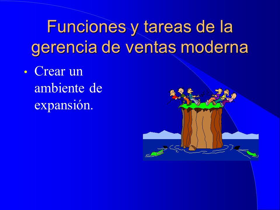 Funciones y tareas de la gerencia de ventas moderna Crear un ambiente de expansión.