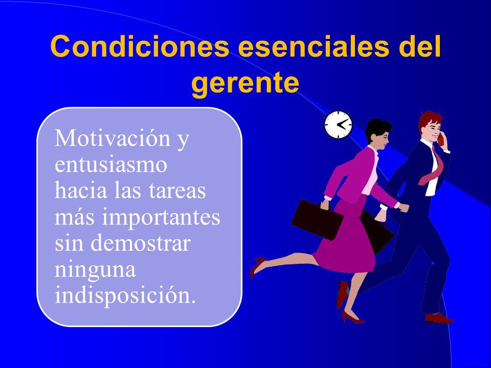 Condiciones esenciales del gerente Relaciones humanas