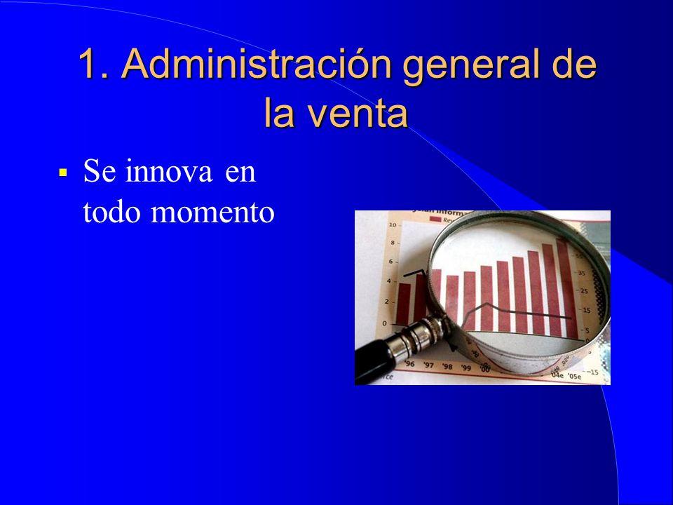 1. Administración general de la venta  Se innova en todo momento
