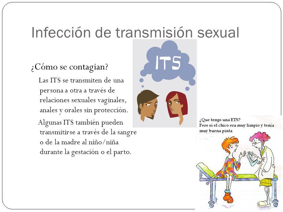 Infección de transmisión sexual ¿Cómo se contagian.