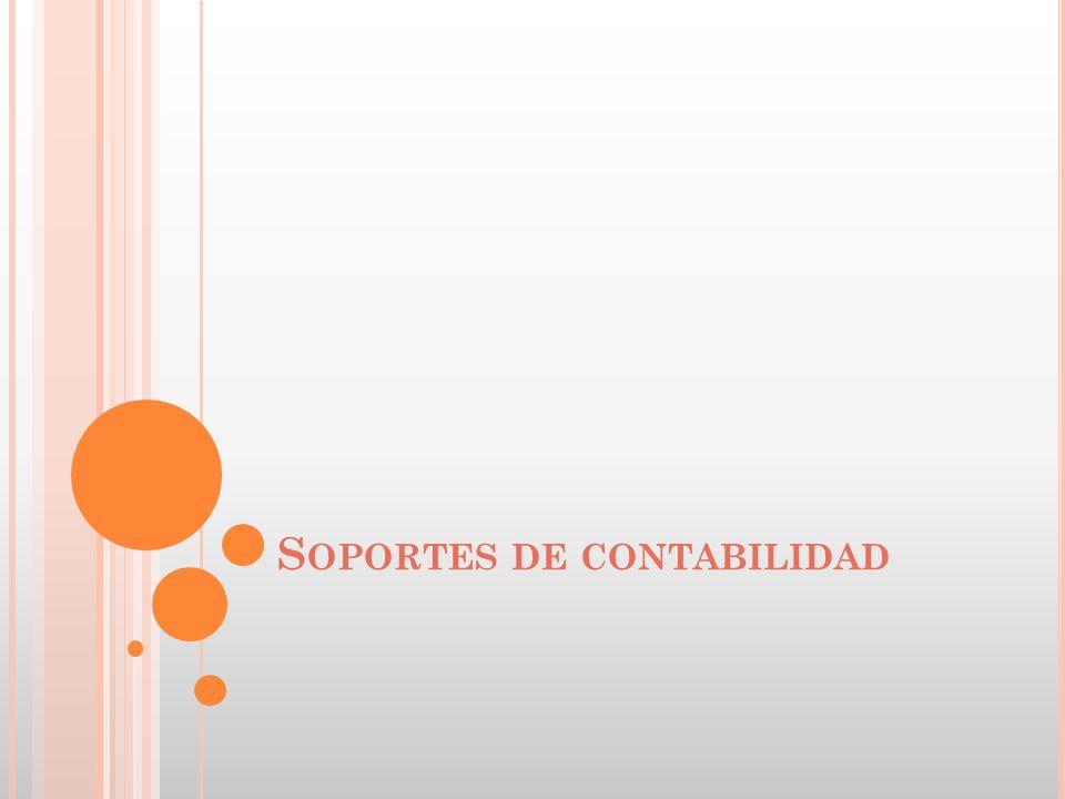 S OPORTES DE CONTABILIDAD