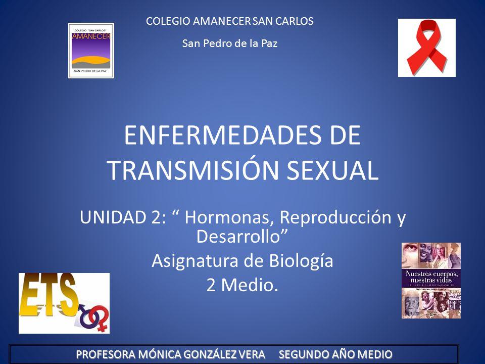 ENFERMEDADES DE TRANSMISIÓN SEXUAL UNIDAD 2: Hormonas, Reproducción y Desarrollo Asignatura de Biología 2 Medio.