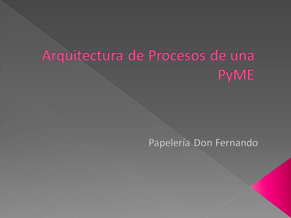  La Arquitectura de Procesos se encarga de la estrategia, la organización y los procesos de negocio esenciales en una empresa.