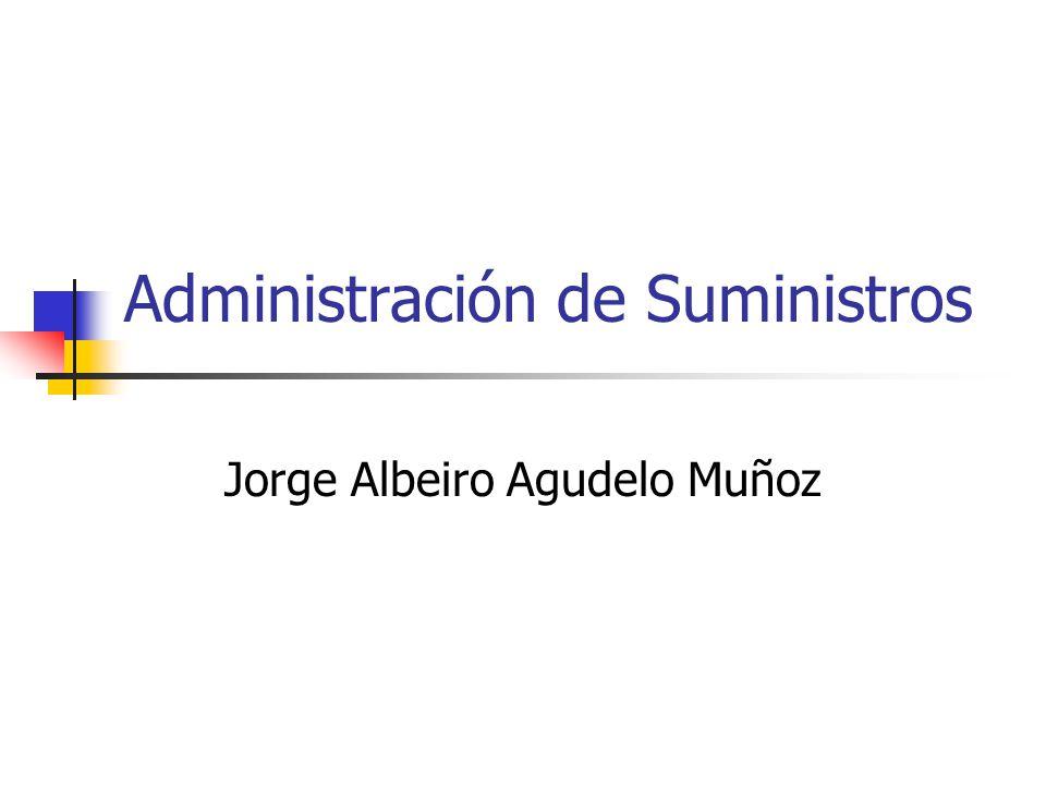 Administración de Suministros Jorge Albeiro Agudelo Muñoz