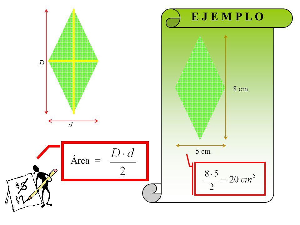 ROMBO área perímetro Diagonal mayor por diagonal menor dividido dos Suma de los lados
