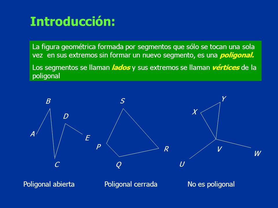 Las poligonales cerradas se llaman polígonos.Los polígonos de tres lados se llaman triángulos.