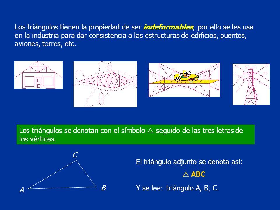 En todo triángulo, la suma de sus ángulos interiores es igual a 180 o.