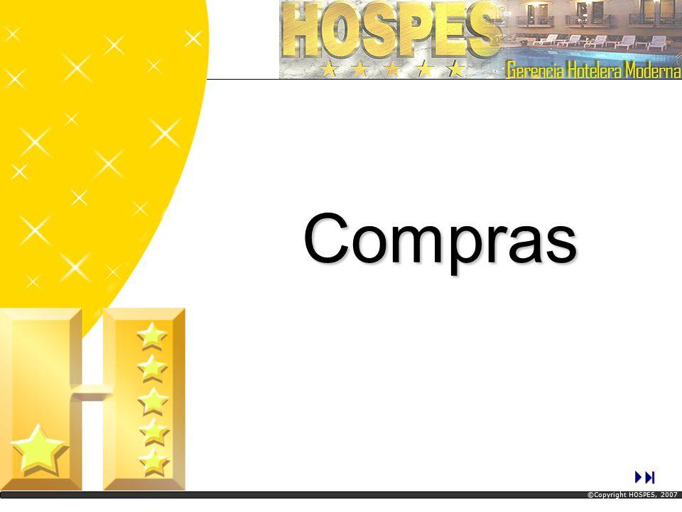Análisis de compras Articulo – Proveedor (Vista Parcial) Compras ©Copyright HOSPES, 2007