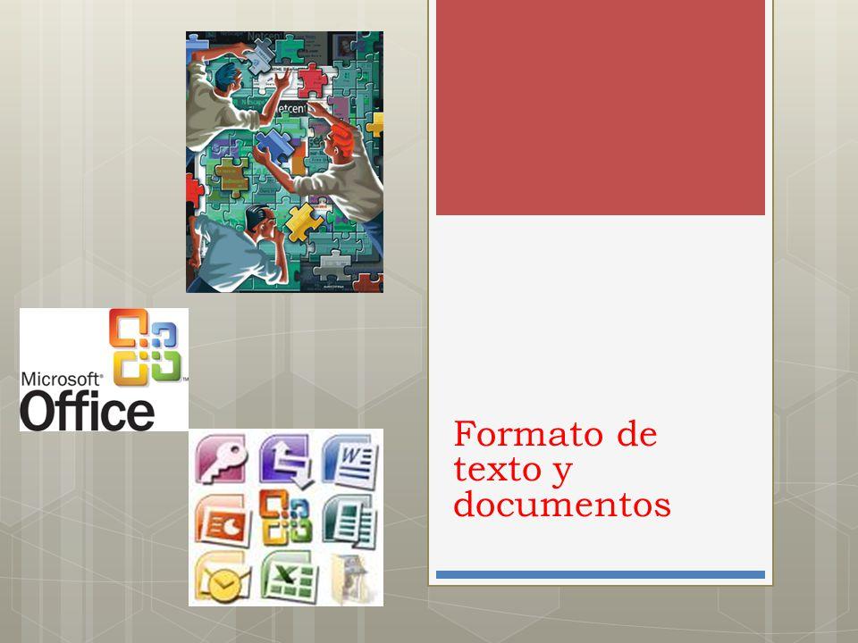 Formato de texto y documentos