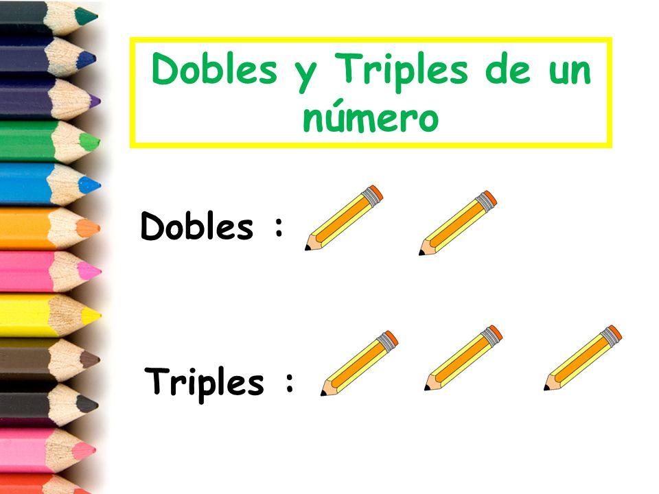 El doble de un número es DOS veces el mismo número, es decir Sumar dos veces el mismo número: Ejemplo: El doble de 2 es DOS veces 2.
