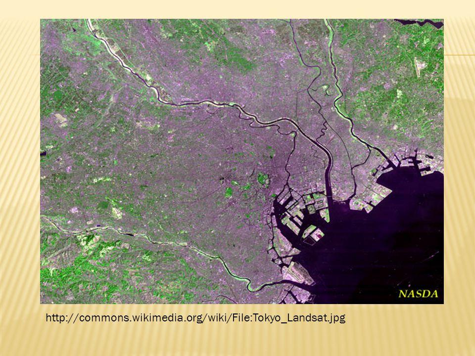 http://commons.wikimedia.org/wiki/File:Tokyo_Landsat.jpg