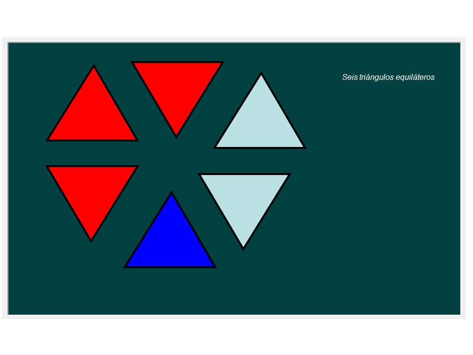 Seis triángulos equiláteros