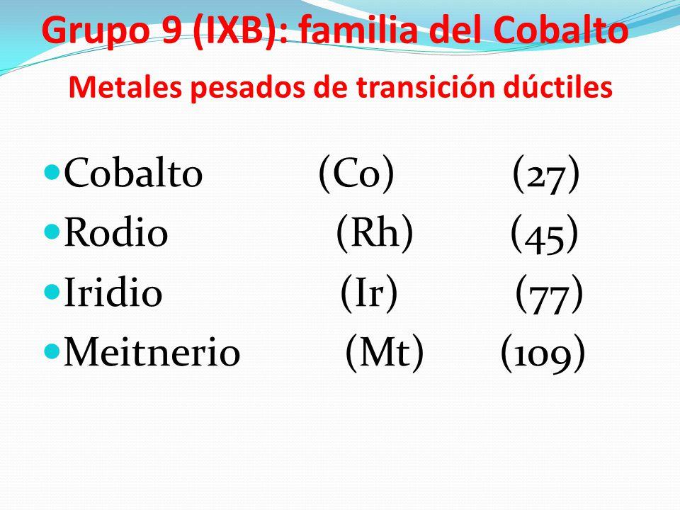 Tema 3 moleculas atomos y moles ppt descargar 55 grupo 9 ixb familia del cobalto metales pesados de transicin dctiles cobalto co 27 rodio rh 45 iridio ir 77 meitnerio mt 109 urtaz Image collections