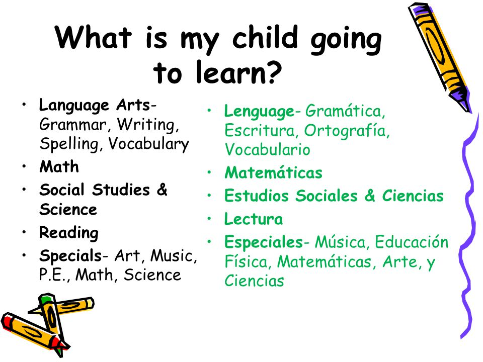 What is my child going to learn.