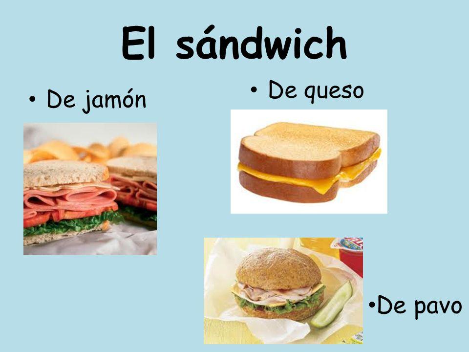 El sándwich De jamón De queso De pavo
