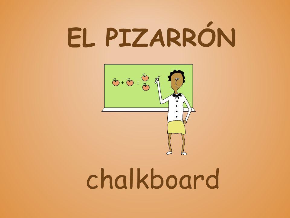 EL PIZARRÓN chalkboard