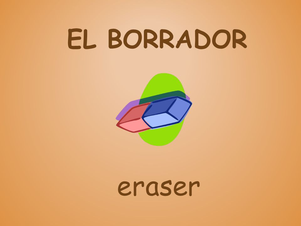 EL BORRADOR eraser