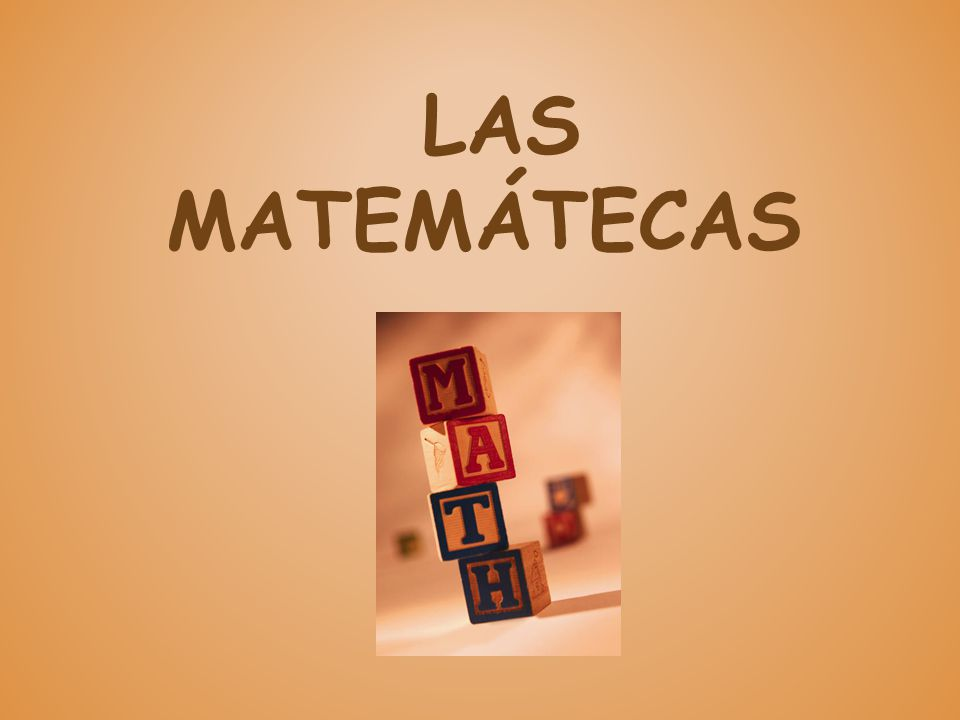 LAS MATEMÁTECAS