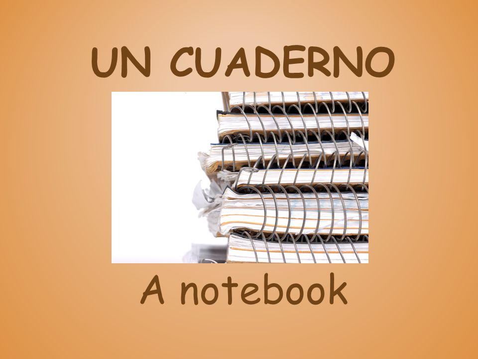 UN CUADERNO A notebook