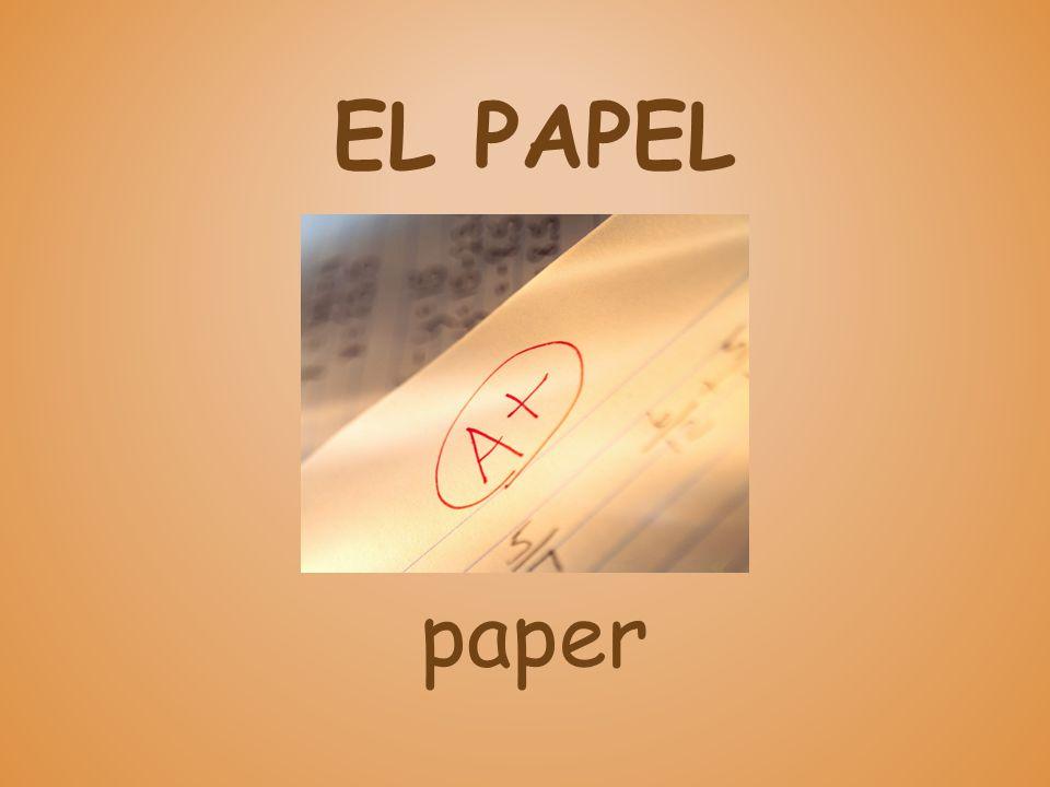 EL PAPEL paper