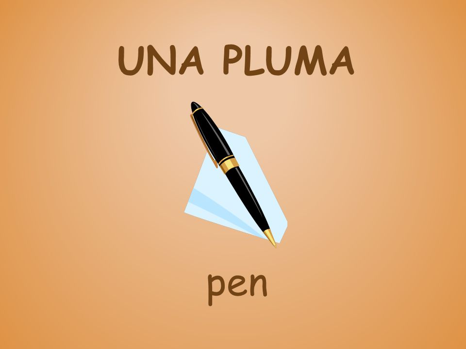 UNA PLUMA pen