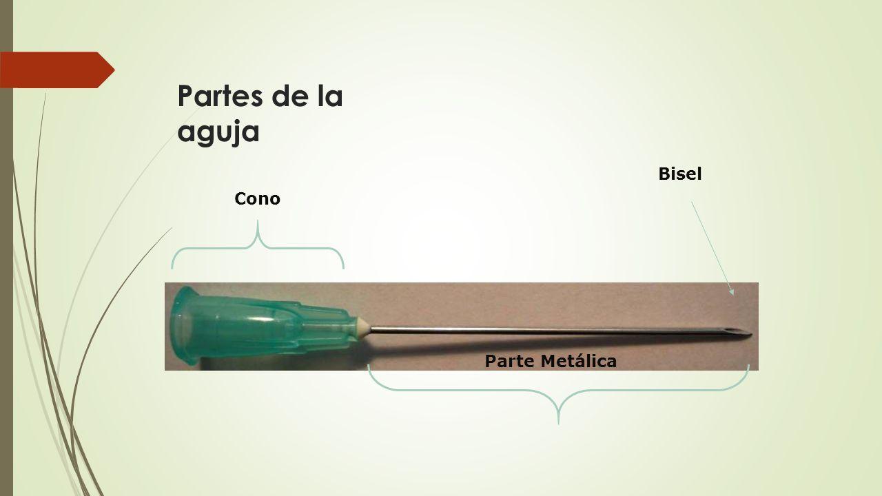 Partes de la aguja Parte Metálica Cono Bisel