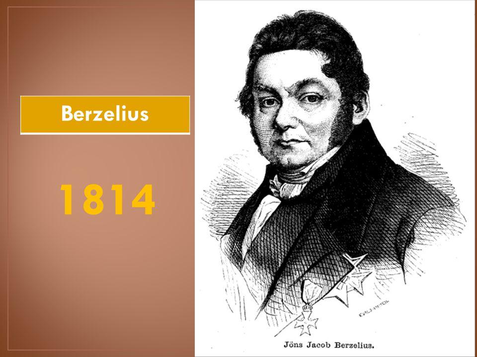 Berzelius 1814 proust 1815 hiptesis de proust estableci la 3 berzelius 1814 urtaz Images